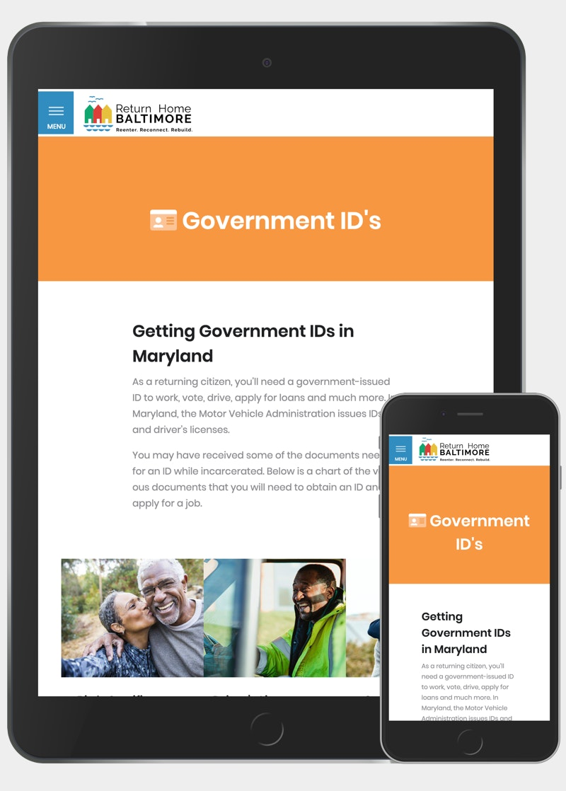 Return home baltimore responsive government id page